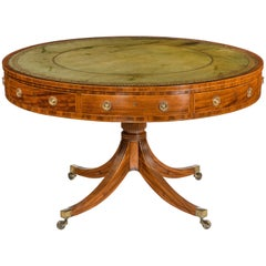 Late George III Revolving Mahogany Drum Table Attributed to Gillows