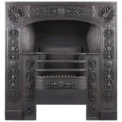 Late Georgian Early Regency Cast Iron Register Grate, Early 19th Century