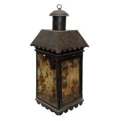Late Georgian George III Corner Tole Lantern, circa 1820