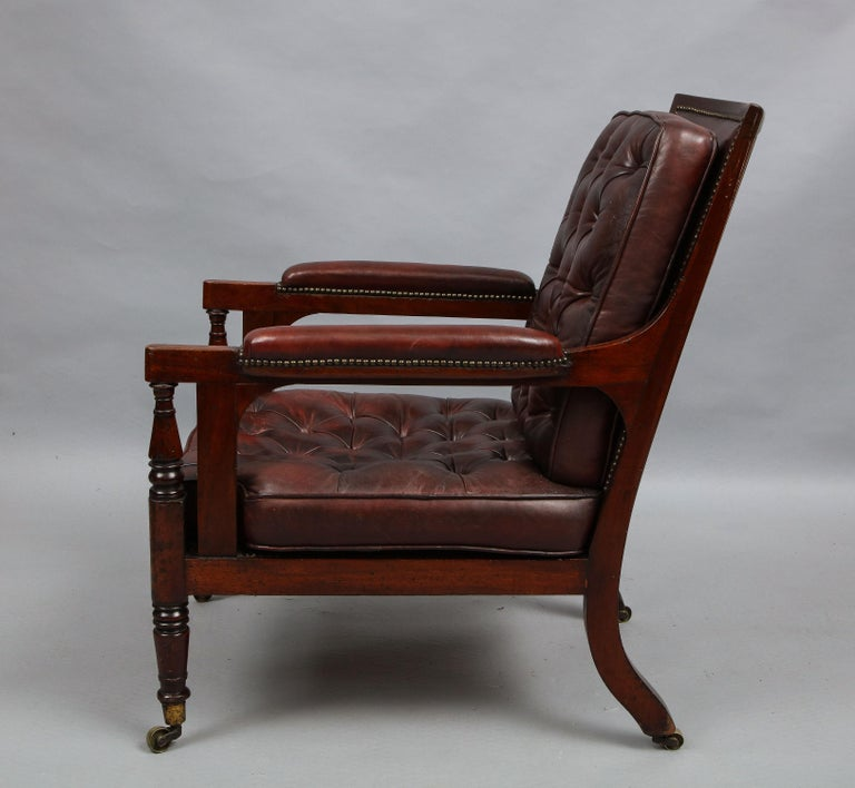 Late Georgian Library Chair For Sale 3