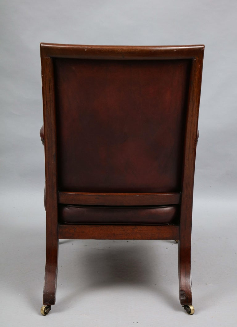Late Georgian Library Chair For Sale 5
