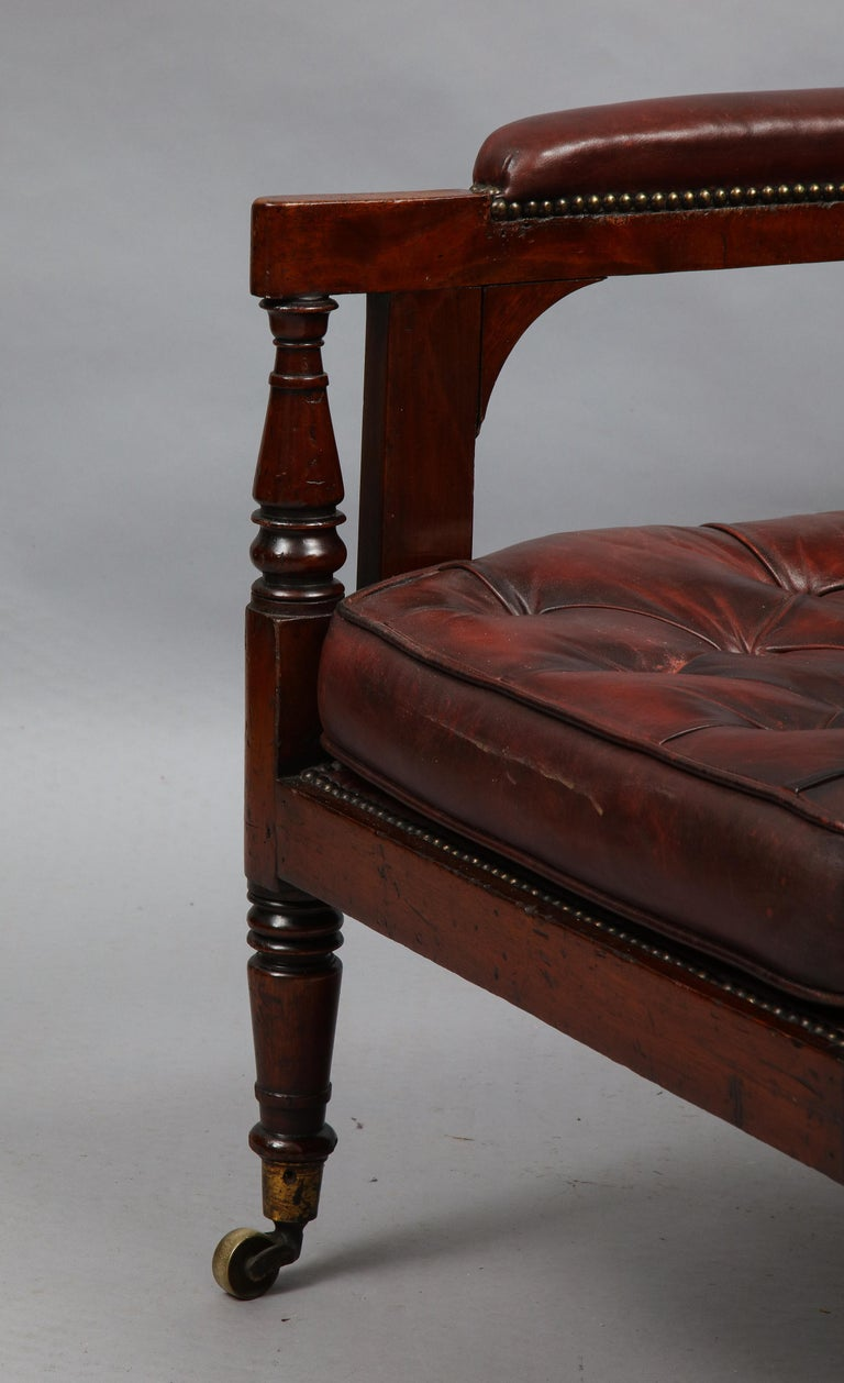Late Georgian Library Chair For Sale 2