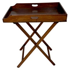Late Georgian Mahogany Butlers Tray and Stand