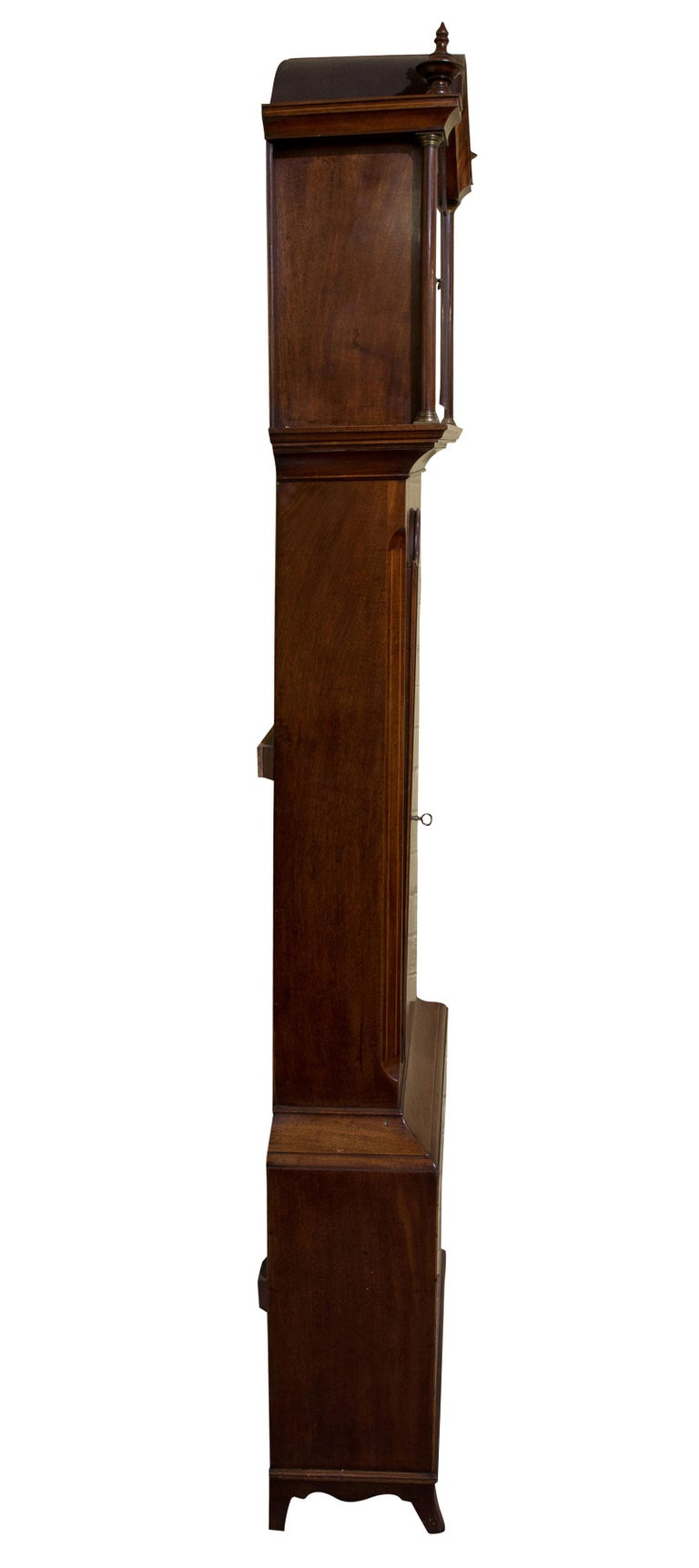 Late Georgian Mahogany Longcase Clock, circa 1800 In Good Condition For Sale In Salisbury, GB