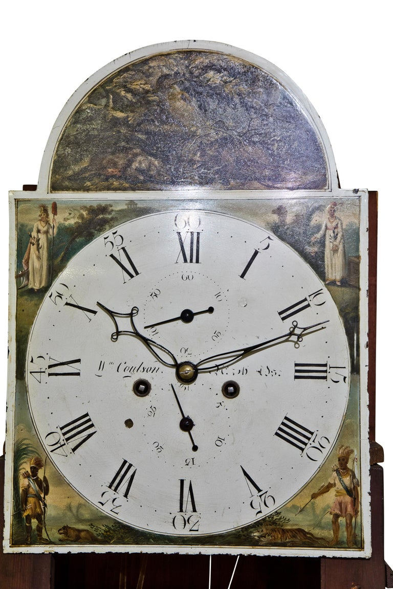 Late Georgian Mahogany Longcase Clock, circa 1800 For Sale 1