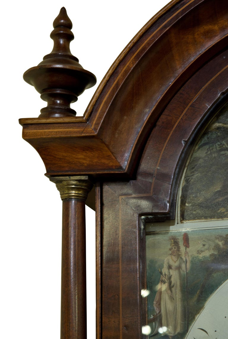 Late Georgian Mahogany Longcase Clock, circa 1800 For Sale 4