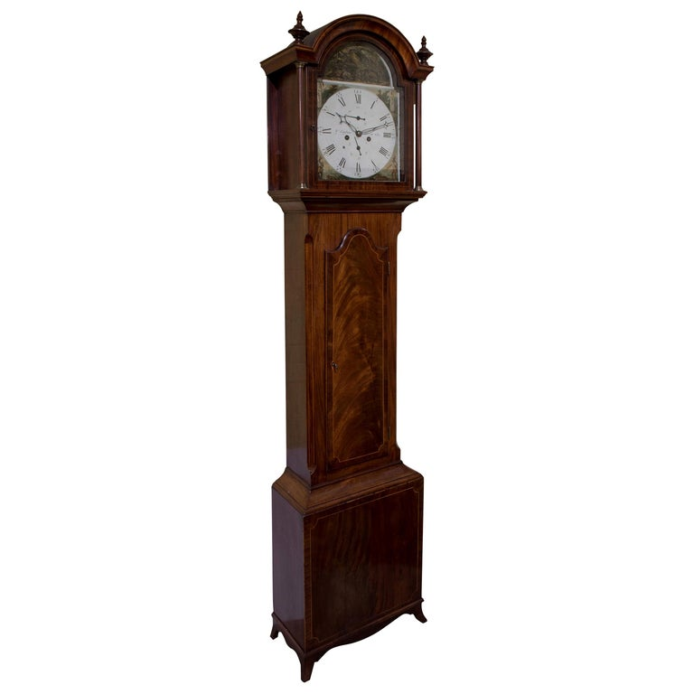 Late Georgian Mahogany Longcase Clock, circa 1800 For Sale