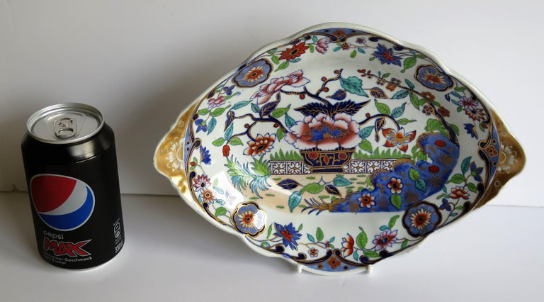 Late Georgian Spode Dish or Oval Plate finely enamelled Pattern 4052, circa 1820 For Sale 3