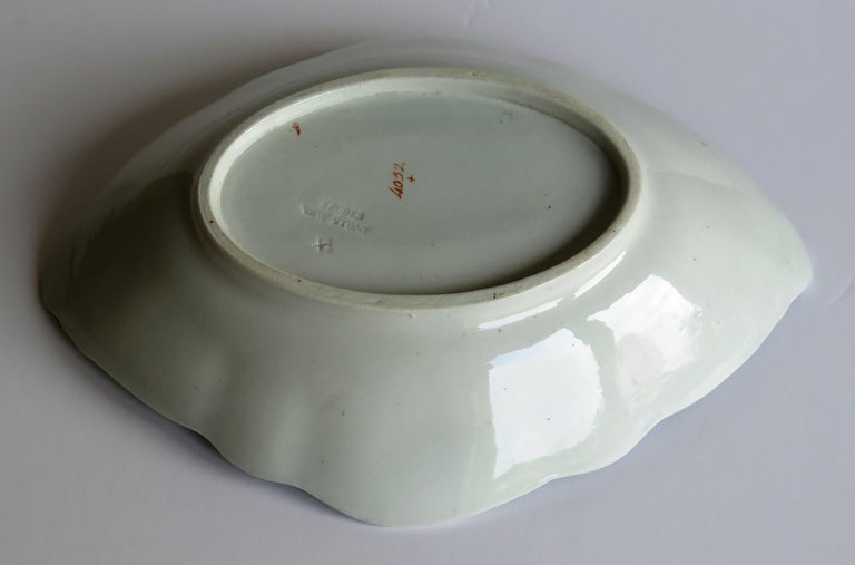 Late Georgian Spode Dish or Oval Plate finely enamelled Pattern 4052, circa 1820 For Sale 6