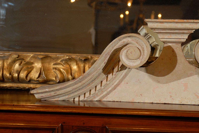 British Late Georgian Swan's Neck Architectural Pediment For Sale