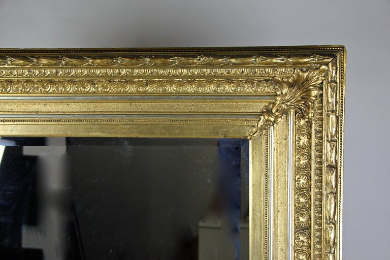 Late Golden Biedermeier Mirror, Austria, circa 1860 In Good Condition For Sale In Linz , AT