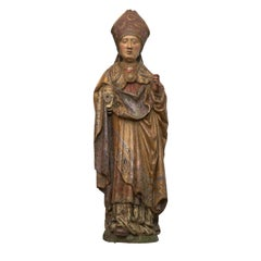 Late Gothic Figure of a Bishop