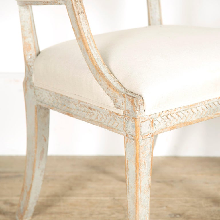19th Century Late Gustavian Barrel Back Armchairs