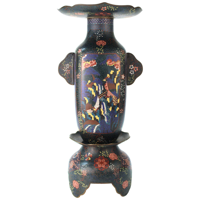 Late Meiji Period Cloisonné Vase