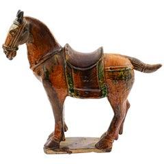 Late Ming Era Documented Glazed Pottery Horse