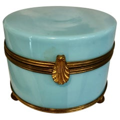 Late 19th-Early 20th Century Opaline Glass Dresser Box