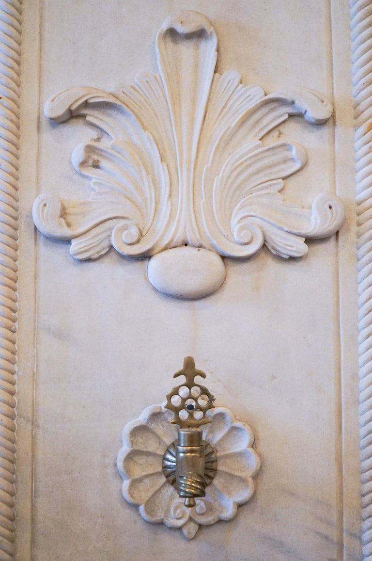European Late Ottoman Hamam Style Wall Fountain For Sale