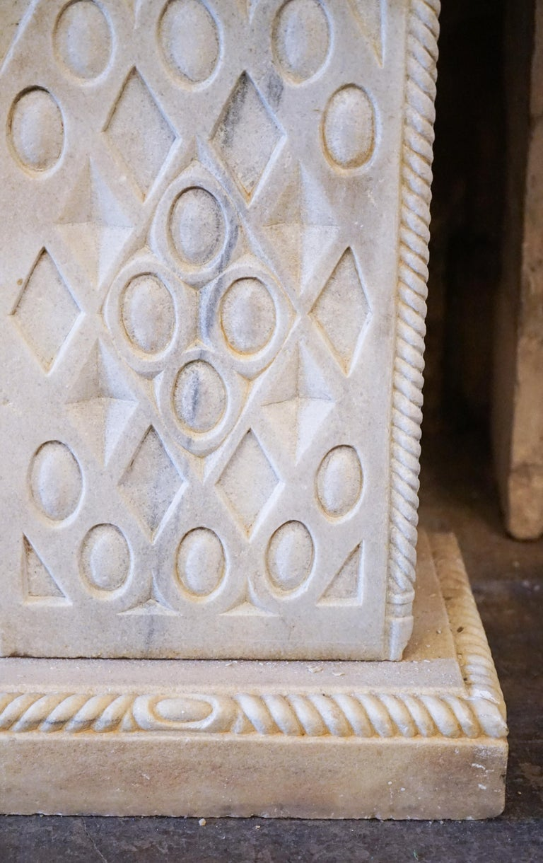Hand-Carved Late Ottoman Hamam Style Wall Fountain For Sale
