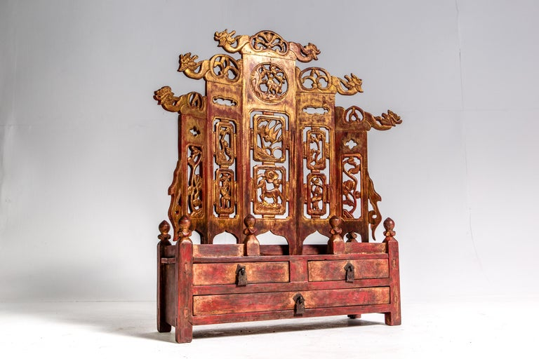 19th Century Late-Qing Dynasty Ancestral Shrine For Sale