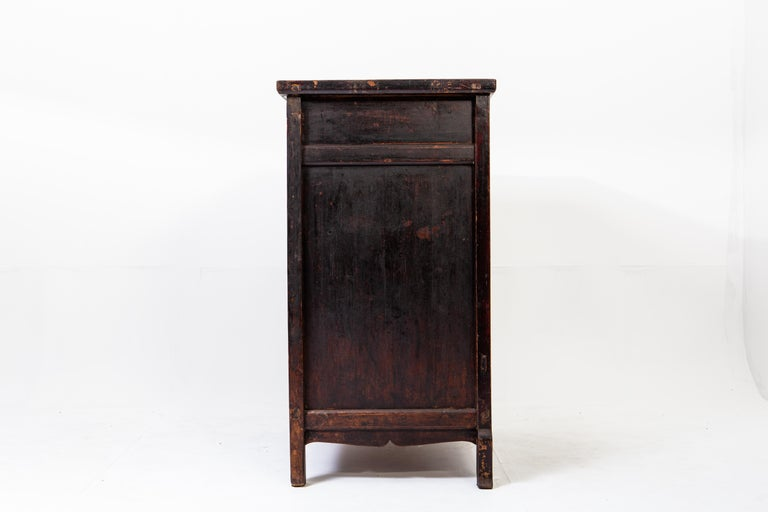 19th Century Late-Qing Dynasty Cabinet with Two Drawers and Two Doors For Sale