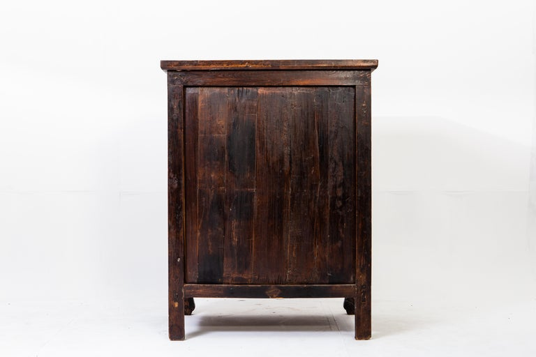 Elm Late-Qing Dynasty Cabinet with Two Drawers and Two Doors For Sale
