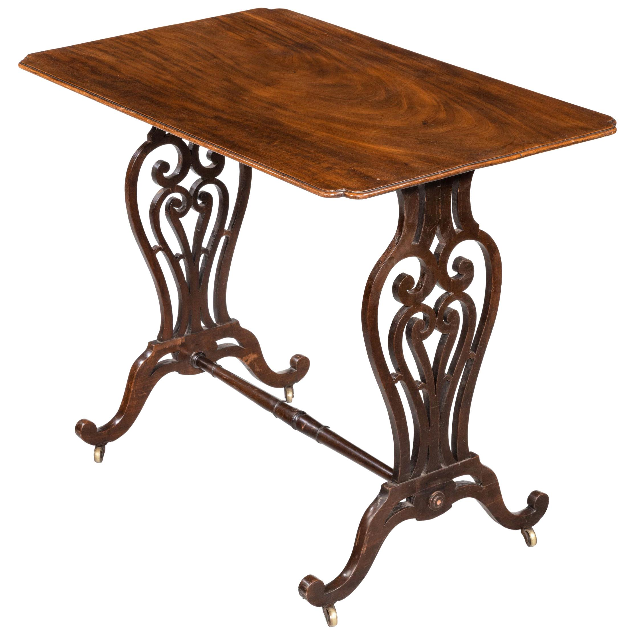 Late Regency Period Mahogany Centre Standing Table
