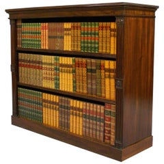 Late Regency Period Mahogany Open Bookcase, circa 1830