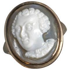 Late Renaissance Agate Cameo Ring Alessandro de' Medici