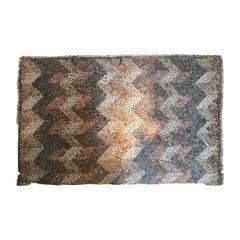 Late Roman Mosaic fragment with upright chevron motive, ca. 4th/5th century AD