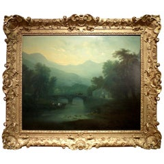 Late Summer English Landscape Painting by the Circle of Thomas Gainsborough