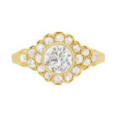 Late Victorian 1.01 Carat Old Cut Diamond Ring, circa 1900s