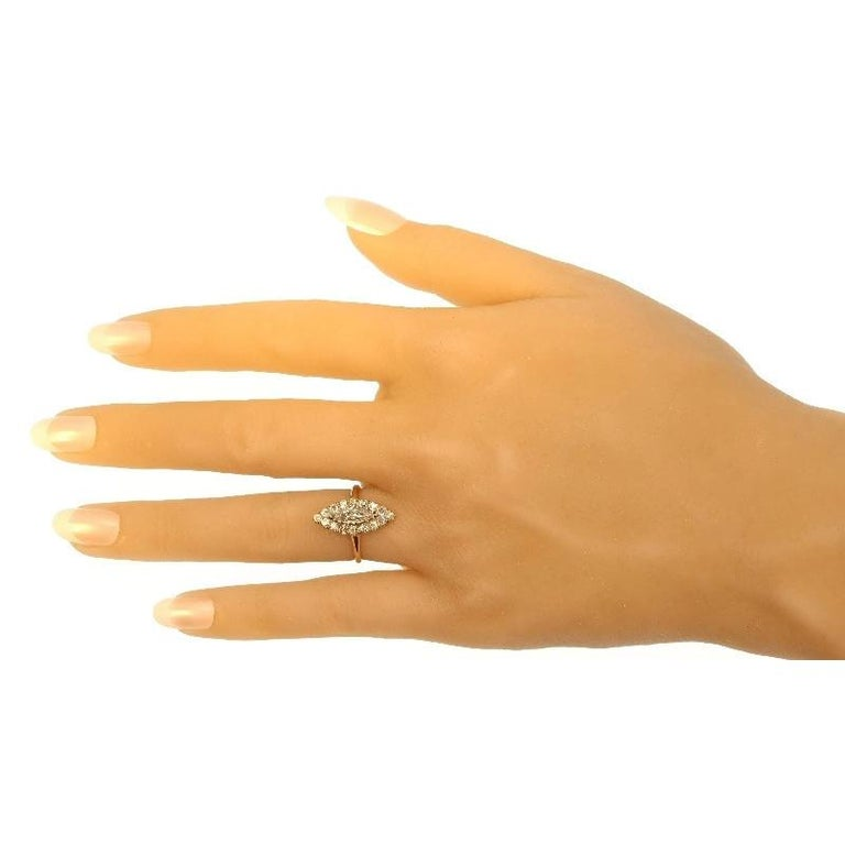 Late Victorian 1.82 Carat Diamond Gold Marquise Engagement Ring, 1880s For Sale 6