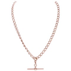 Late Victorian 9 Karat Gold Watch Chain Necklace
