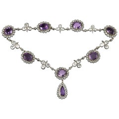 Late Victorian Amethyst and Rock Crystal Necklace