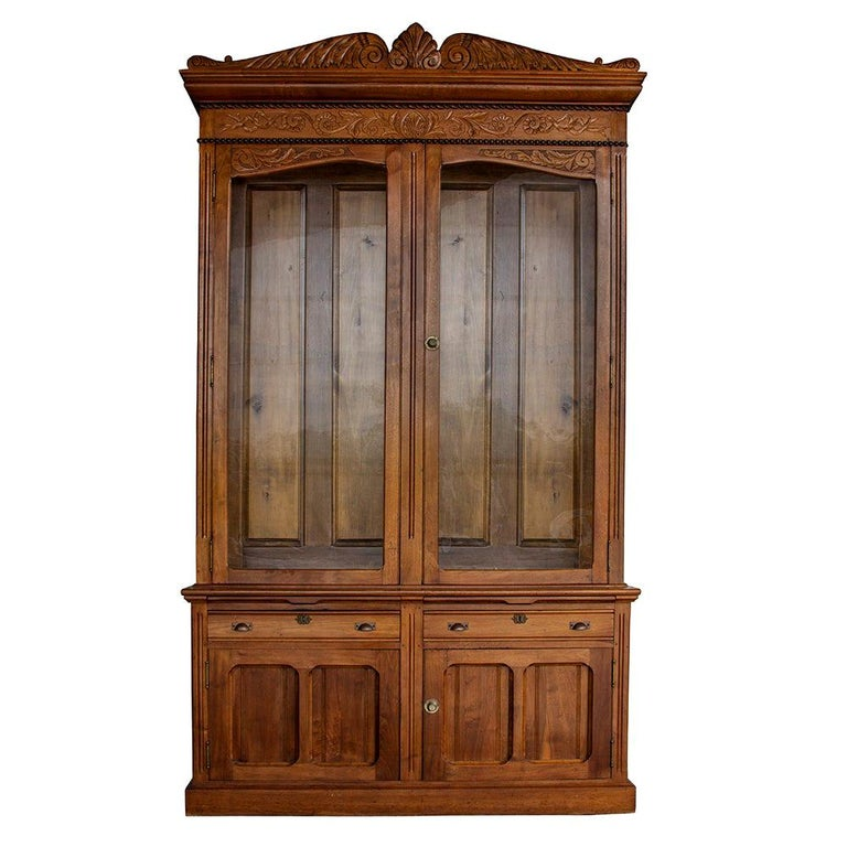 Late Victorian Bookcase For Sale