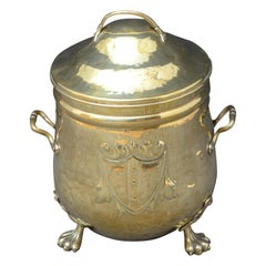Late Victorian Brass Coal Bin