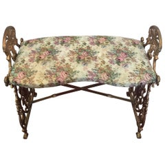 Late Victorian Cast Iron Little Bench, circa 1900