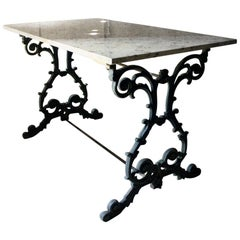 Late Victorian Cast Iron and Marble Topped Table, circa 1900