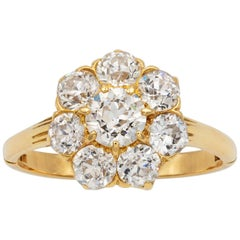 Late-Victorian Diamond Cluster Ring