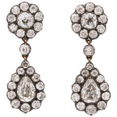 Late Victorian Diamond Earrings