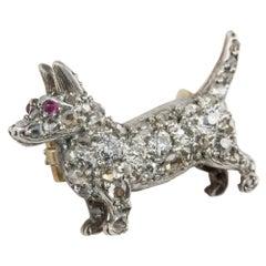 Late Victorian Diamond-Set Brooch