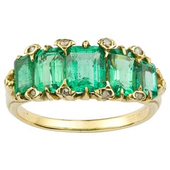 Late Victorian Emerald Five Stone Ring