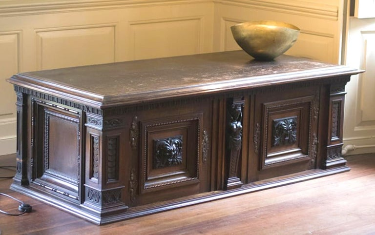 Late Victorian English Walnut Cabinet For Sale 1