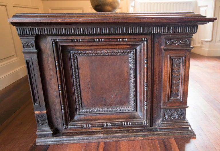Late Victorian English Walnut Cabinet For Sale 3