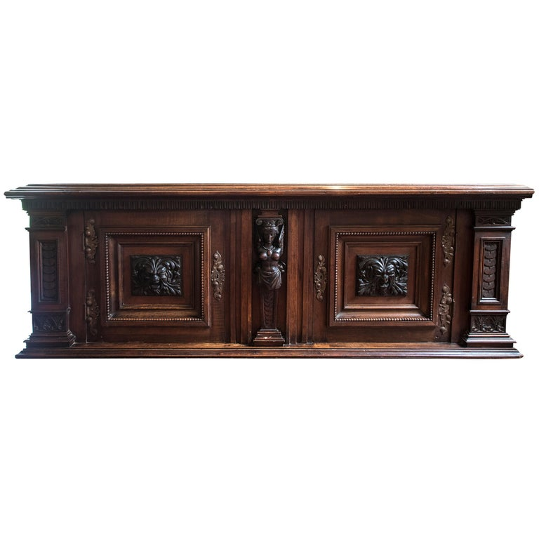 Late Victorian English Walnut Cabinet For Sale
