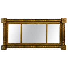Late Victorian Gilt Painted Fireplace Mantel Wall Mirror