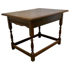 Late Victorian Golden Oak Occasional Side table