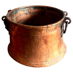 Late Victorian Hand-Hammered Copper Cauldron Pot