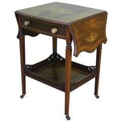 Late Victorian Inlaid Rosewood Flap Table