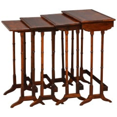 Late Victorian Nest of Four Tables in Rosewood